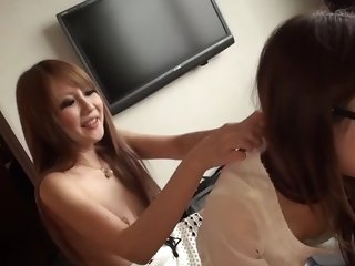 japanese chick, buruma aoi and friends like casual threesome
