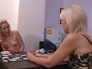 old-young strip poker leads to pussy toying